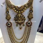 Gold Nakshi Bridal Jewellery Necklace and Haram