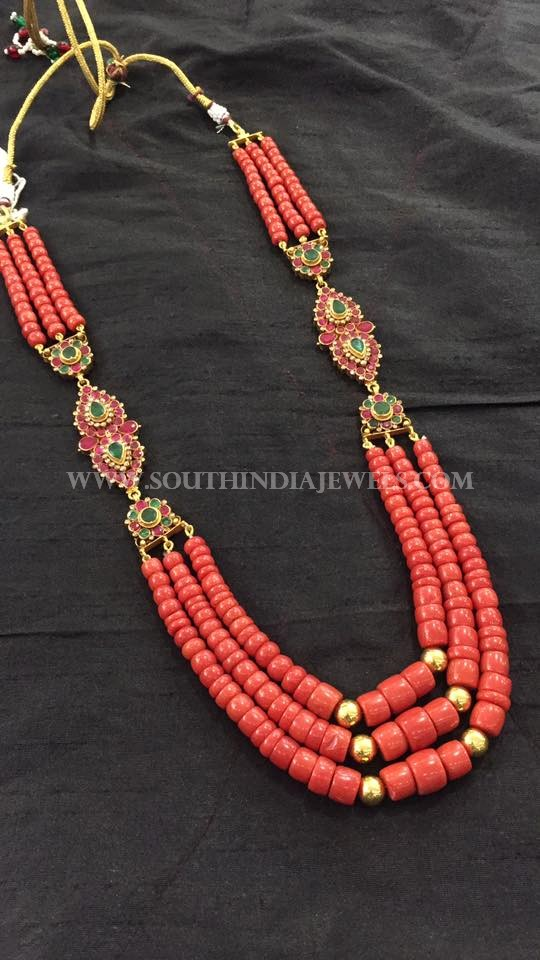 Gold Coral Necklace Design