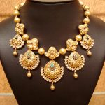 Gold Light Weight Antique Kundan Necklace Design