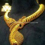 Gold Matt Finish Designer Necklace From CMR Jewels