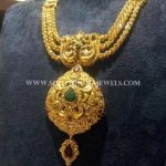 Gold Multilayer Short Necklace From CMR Jewels