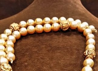 Gold Pearl Mala With Antique Balls
