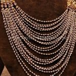 Gold Pearl Step Haram With Side Locket