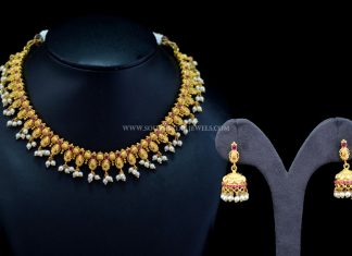 Gold Plated Short Necklace From Sri Fine Jewellery