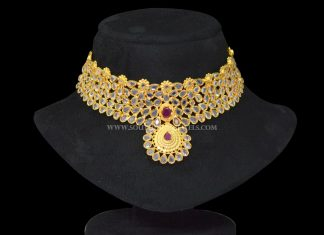 Gold Plated Bridal Necklace From Sri Fine Jewellery