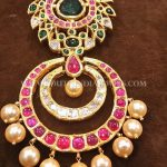 Bold Gold Ruby Emerald Pendant For Chains