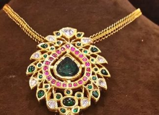 Bold Gold Ruby Pendant For Chains