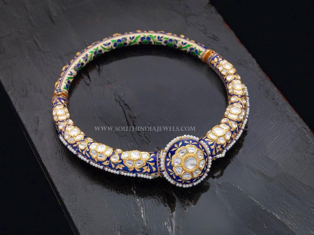Meenakari Bangles With Diamonds