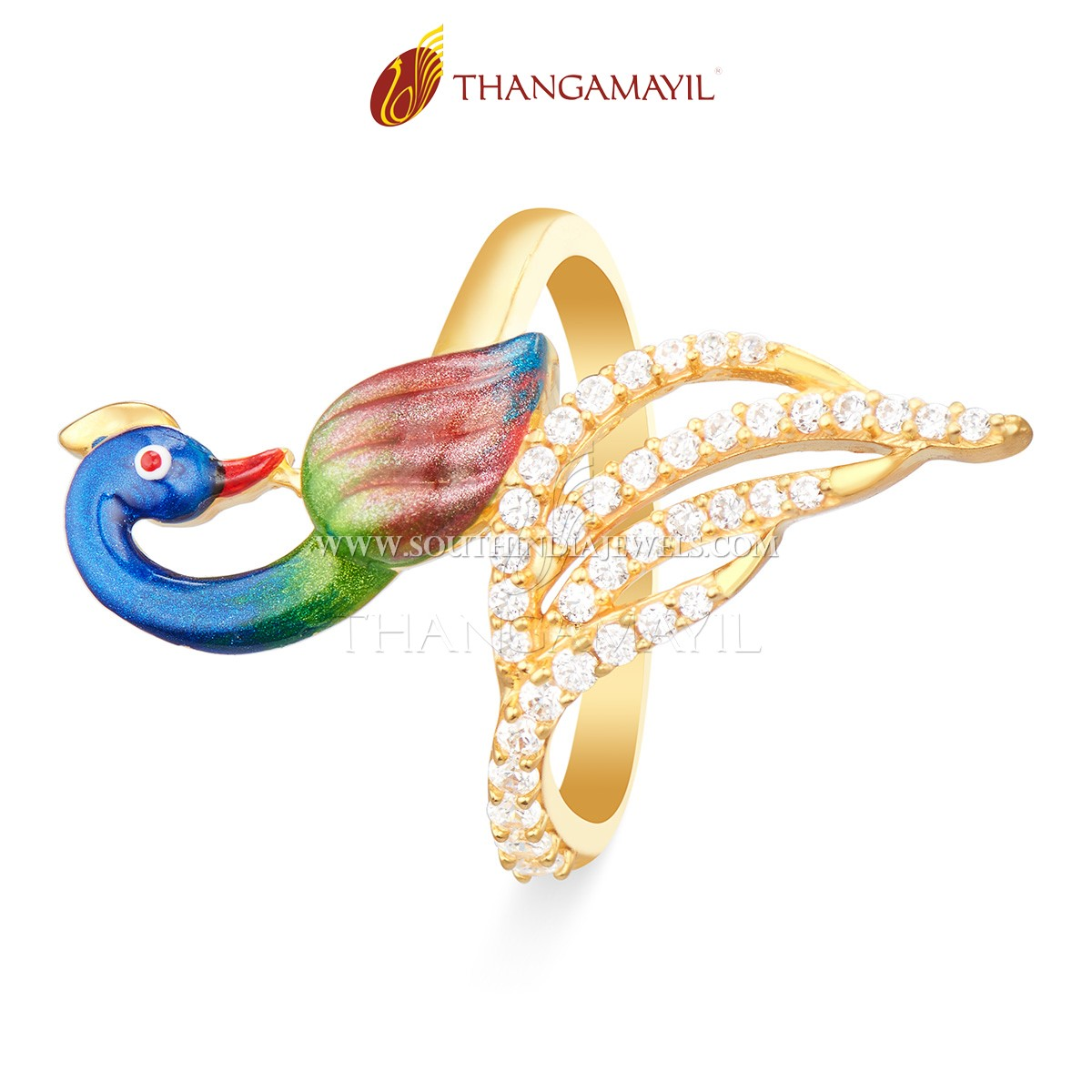 b5fc3207d30ed Stylish Gold Ring From Thangamayil Jewellery ~ South India Jewels