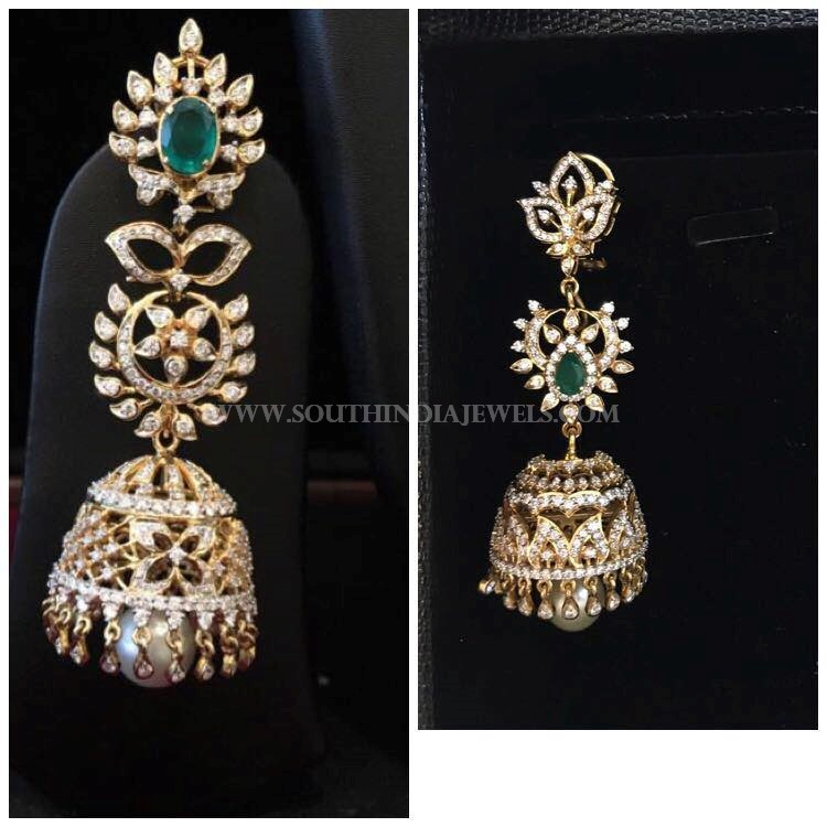 Diamond Jhumka Design From Bhavani Jewellers