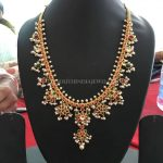 Gold Guttapusalu Necklace From Bhavani Jewellers