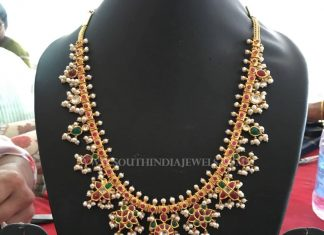 Gold Guttapusalu Necklace From Bhavani Jewellers