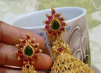 Broad Imitation Jhumka Design