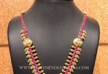 Gold Ruby Mango Haram From Naj jewellery
