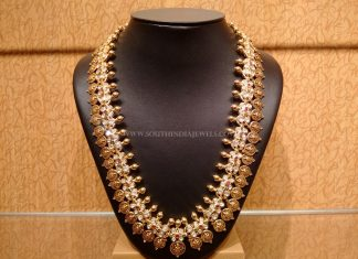Gold Nakshi Work Kasumalai Necklace