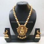 Imitation Temple Pearl Mala Necklace