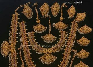 Matt Finish Antique Bridal Necklace Set
