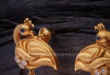 Antique Peacock Jhumka From Kushal Fashion Jewellery