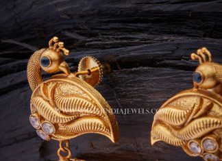 Antique Peacock Jhumka From Kushal Fashion Jewellery