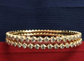 Single Row Diamond Bangle Designs