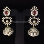 Diamond Long Jhumka Earrings From Arka Diamond