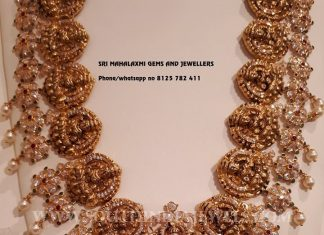 Gold Antique Lakshmi Necklace From Sri Mahalaxmi Gems & Jewellers