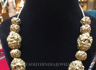 Gold Antique Nakshi Ball Necklace