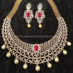 Gold Diamond Ruby Necklace From Arka Diamonds
