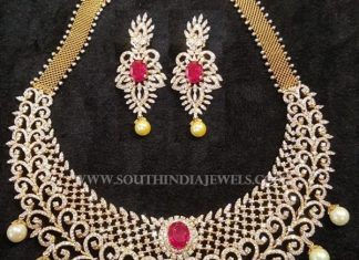 Gold Diamond Ruby Necklace From Akra Diamonds