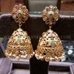 Gorgeous Gold Stone Jhumka