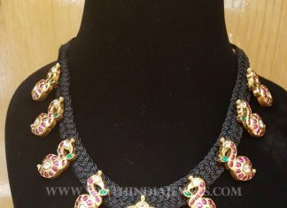 Gold Kundan Dori Necklace