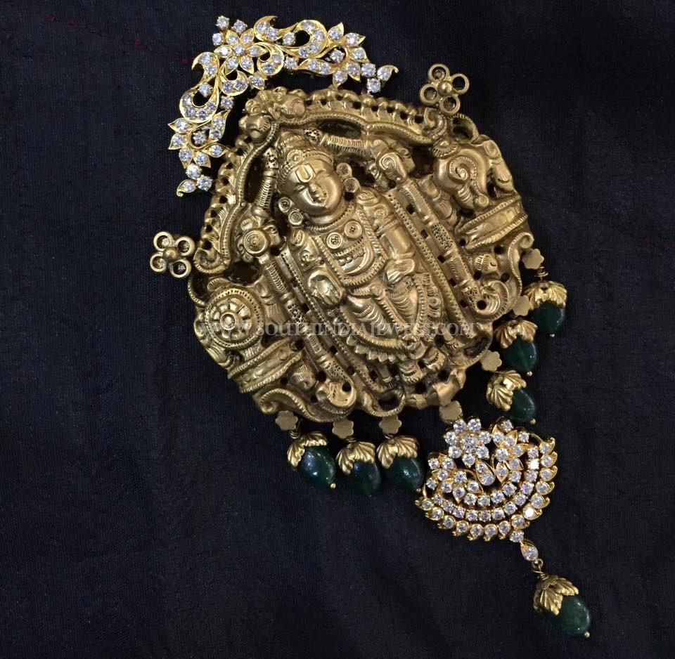 Gold Lord Balaji Pendant Design