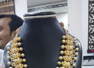 Gold Pachi Necklace Set With Neminath Jewellers