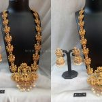 Beautiful Gold Plated Lakshmi Haram and Jhumka