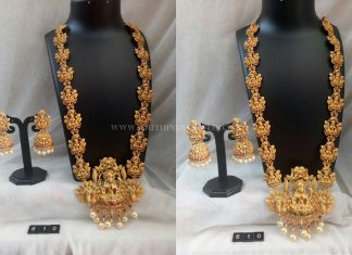 Beautiful Gold Plated Lakshmi Haram and Jhumka