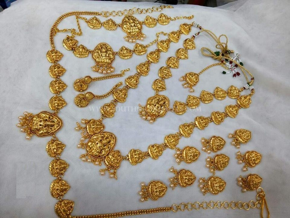 Gold Plated Nakshi Bridal Jewellery