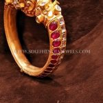 Gold Bold Kemp Ruby Bangle Design