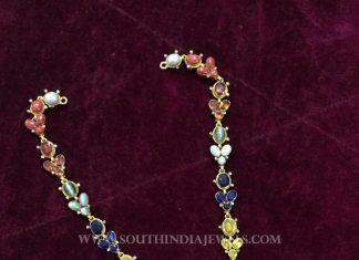 Navarathna Gold Necklace From Big Shop