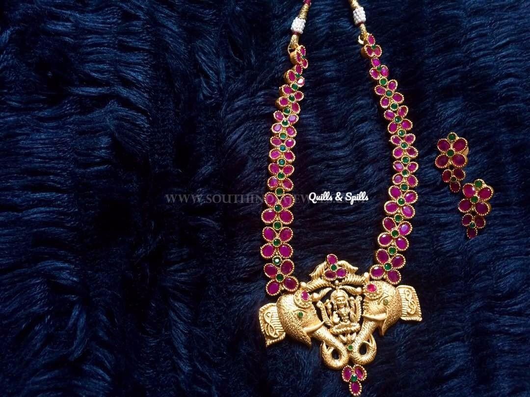 Temple Ruby Haram & Earrings
