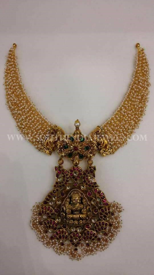100 Grams Gold Temple Necklace