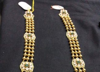 Gold Long Necklace With Weight 120 Grams