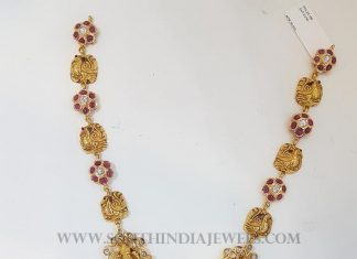 22Kt CZ Pacchi Peacock Necklace Set