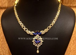 Light Weight Gold CZ Stone Necklace From NAJ