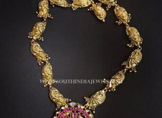 Gold Plated Antique Peacock Necklace
