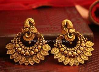 Bold Antique Earrings From Manubhai Jewellers