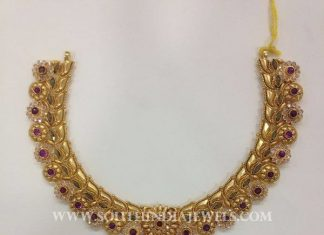 Gold CZ Stone Attigai From CMR Jewels