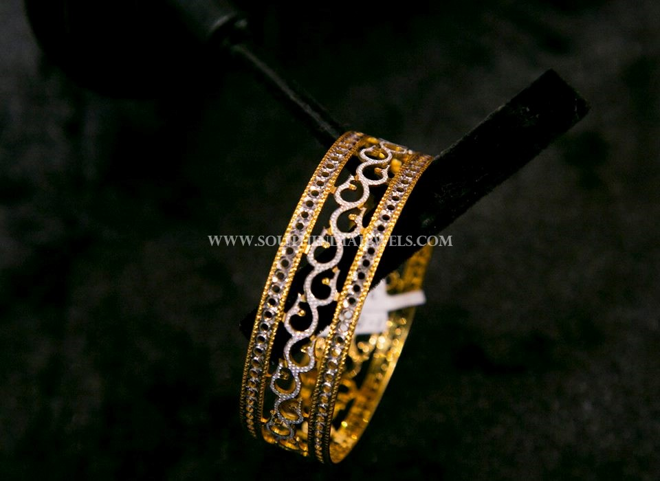 Big Gold Designer Bangle