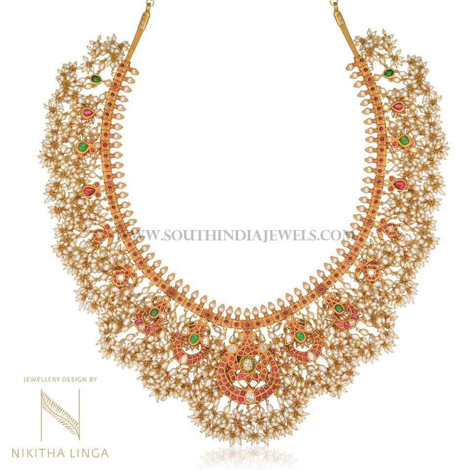 necklace us kt mullamottu mala gold sets details