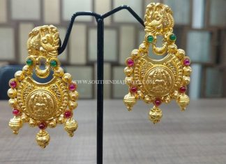22K Gold Matt Finish Chandbali
