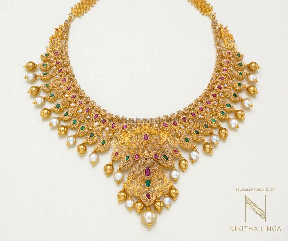 Grand Gold Necklace From Nikitha Linga